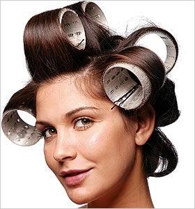 como dar volume aos cabelos com bobes
