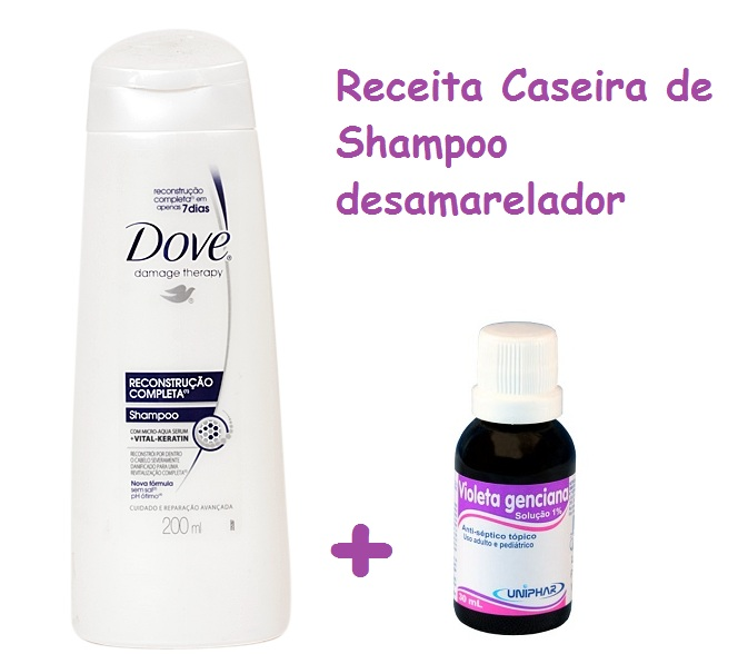 Como fazer shampoo desamarelador caseiro passo a passo 1