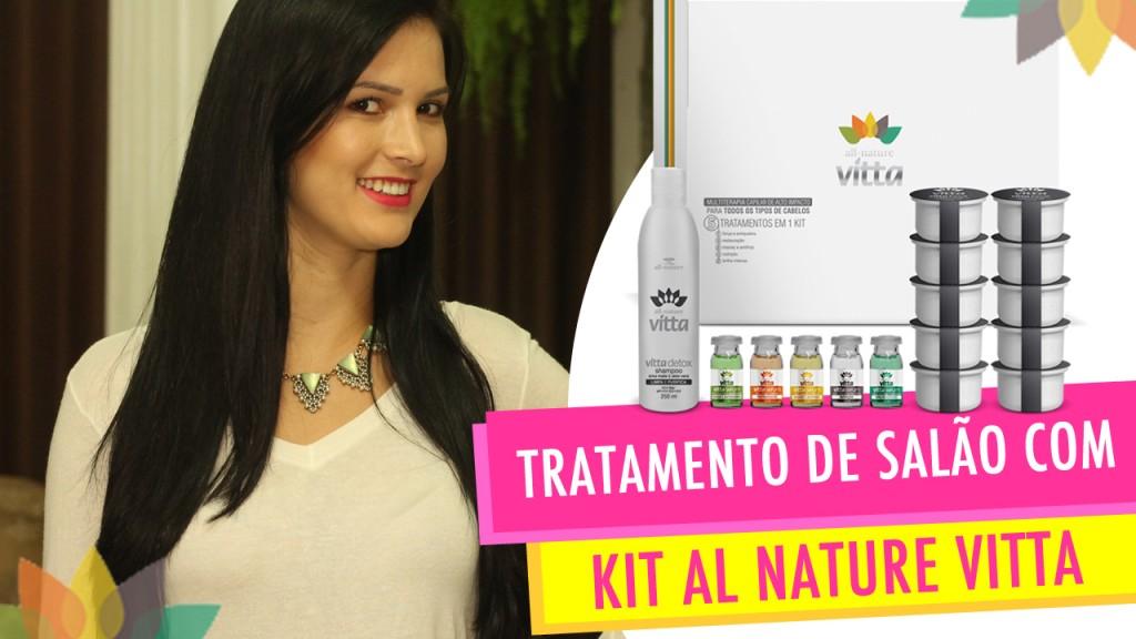 Tratamento com Kit Multiterapia Capilar de Alto Impacto All Nature Vitta