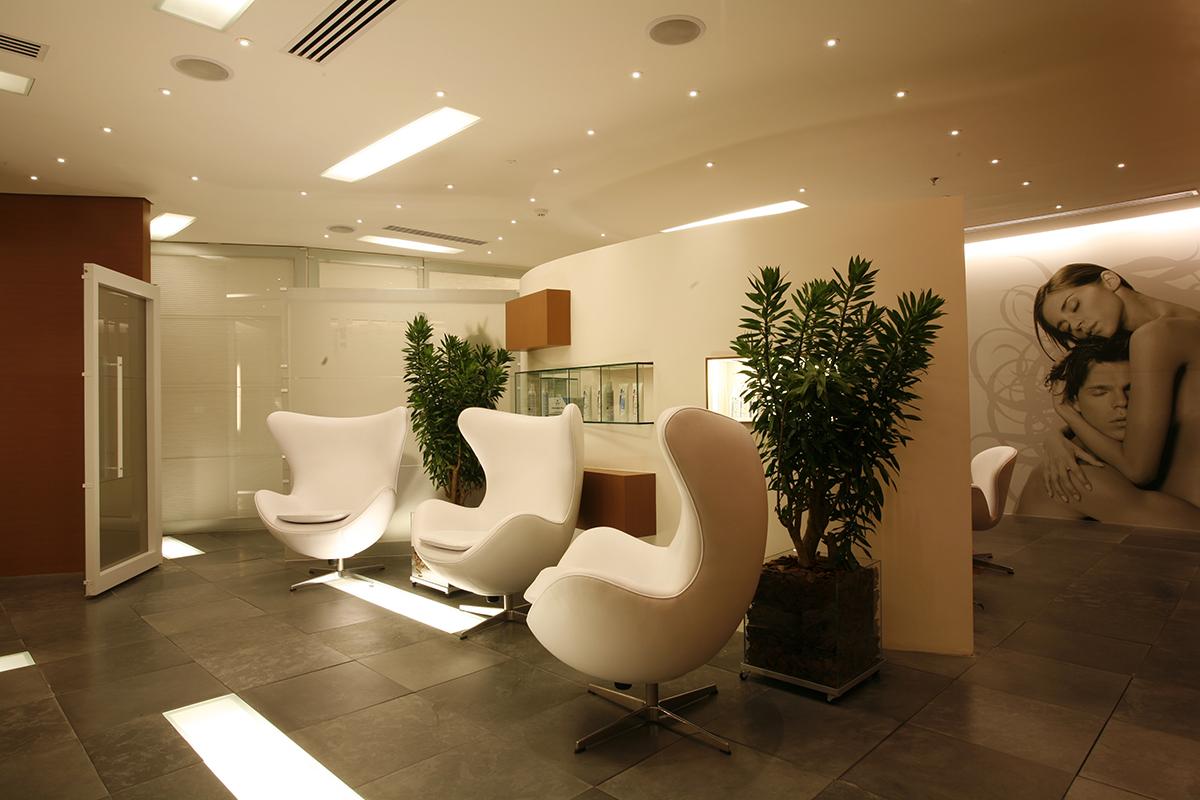 Sala de espera Clinica Tricosalus