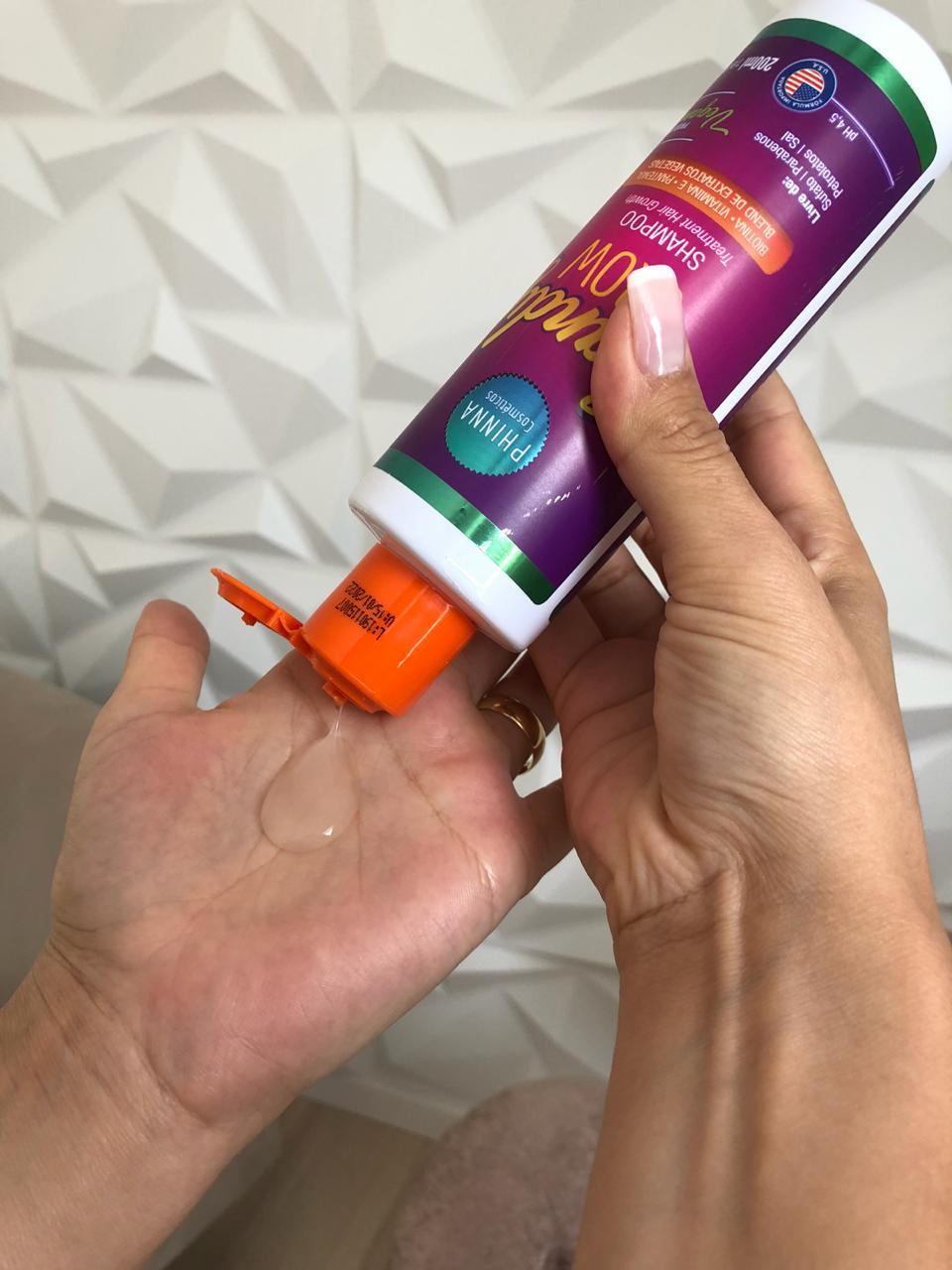 linha-candy-grow-phinna-cosmeticos-e-boa -resenha-shampoo-textura
